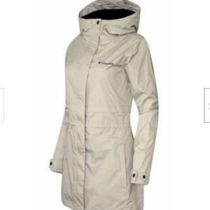 New womens COLUMBIA PLUS SIZE mid rain jacket